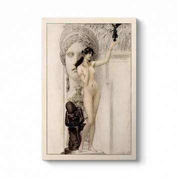 Gustav Klimt - Heykel Alegorisi Tablosu