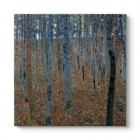 Gustav Klimt - Kayın Korusu Tablosu