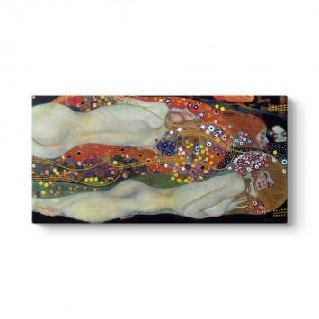 Gustav Klimt - Su Yılanları Tablosu