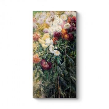 Gustave Caillebotte - Bahçedeki Krizantemler Tablosu