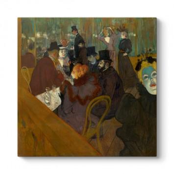 Henri de Toulouse - At the Moulin Rouge Tablosu