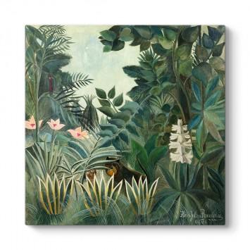 Henri Rousseau - Ekvator Ormanı Tablosu