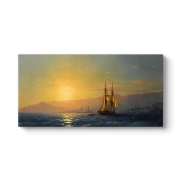 İvan Ayvazovski - Denizde Gün Batımı Tablosu
