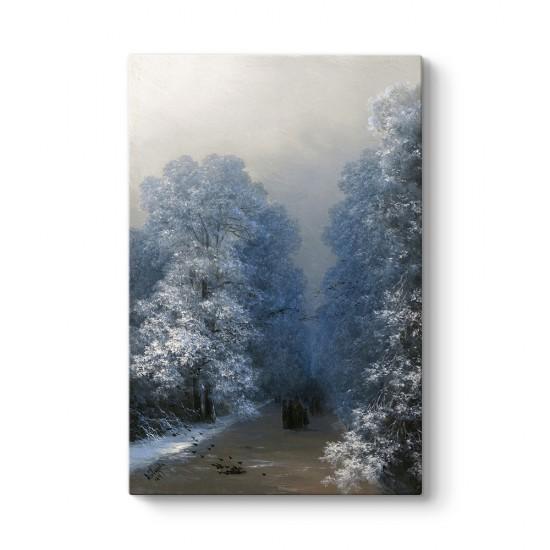 İvan Ayvazovski - Kış Manzarası Tablosu