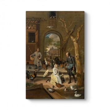 Jan Steen - Portrait of Jacoba Maria van Wassenaer Tablosu