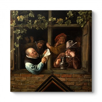 Jan Steen - Rhetoricians At a Window Tablosu