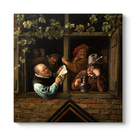 Jan Steen - Rhetoricians At a Window Tablosu