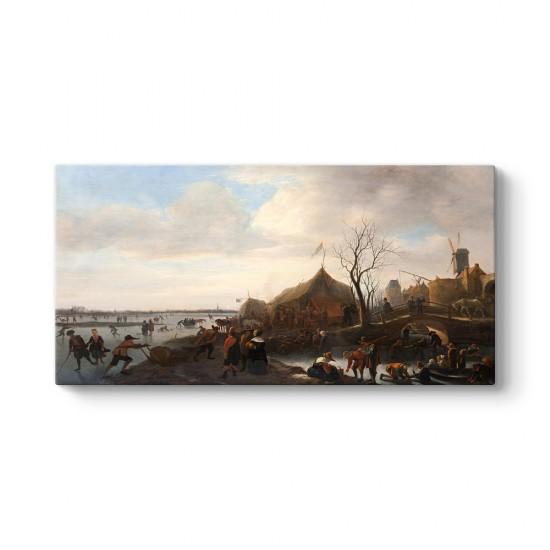 Jan Steen - Winter Scene Tablosu