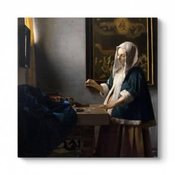 Johannes Vermeer - Terazi Tutan Kadın Tablosu