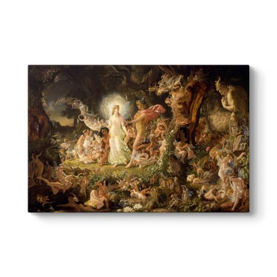 Joseph Noel Paton - Oberon ve Titania'nın Kavgası Tablosu
