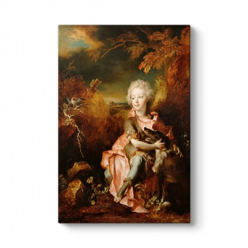 Nicolas de Largilliere - Portrait of a Boy in Fancy Dress Tablosu