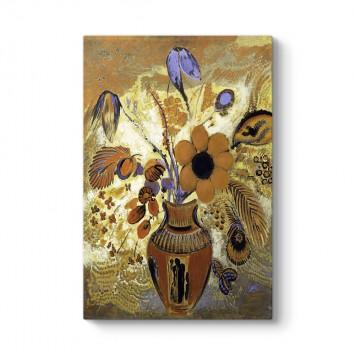 Odilon Redon - Etruscan Vase With Flowers Tablosu