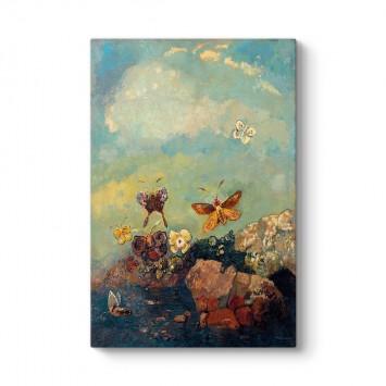 Odilon Redon - Kelebekler Tablosu