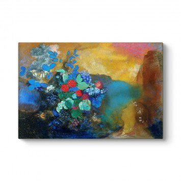 Odilon Redon - Ophelia among the Flowers Tablosu