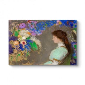 Odilon Redon - Violette Heymann Portresi Tablosu
