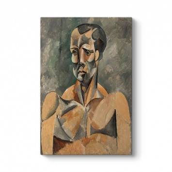 Pablo Picasso - Bir Adamın Büstü Tablosu