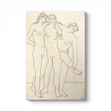 Pablo Picasso - Les Trois Baigneuses Tablosu