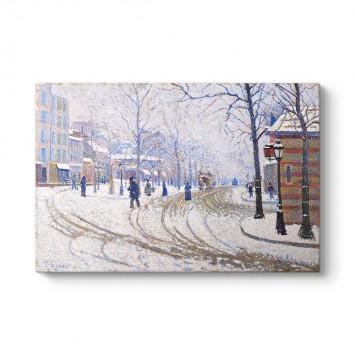 Paul Signac - Boulevard de Clichy Paris Tablosu