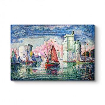 Paul Signac - La Rochelle Limanına Giriş Tablosu