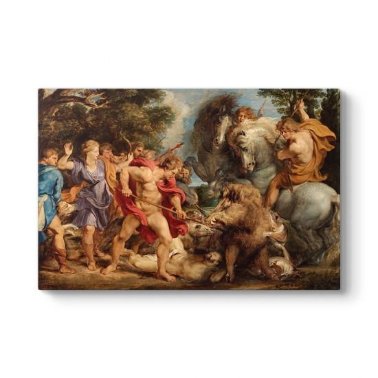 Peter Paul Rubens - Calydonian Yaban Domuzu Avı Tablosu