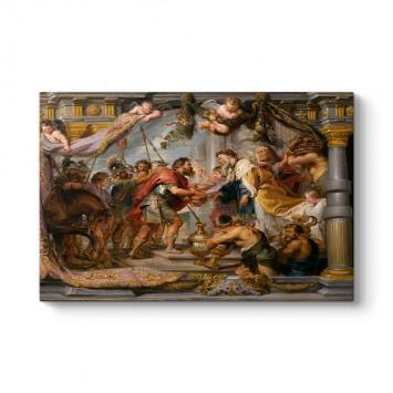 Peter Paul Rubens - İbrahim ve Melçizedek'in Buluşması Tablosu