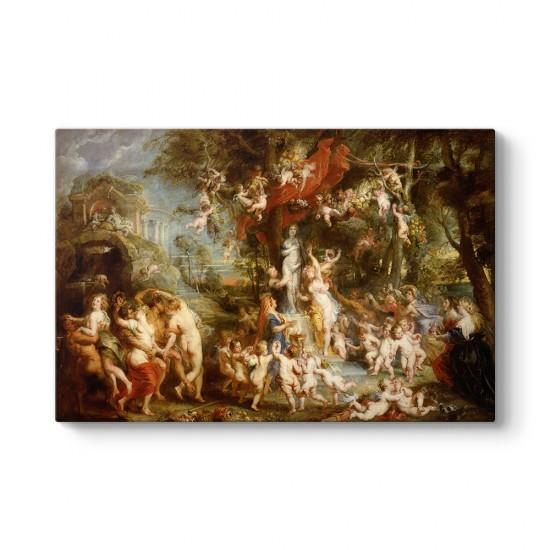 Peter Paul Rubens - Venüs Bayramı Tablosu