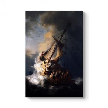 Rembrandt - Celile Denizi'nde Fırtına Tablosu