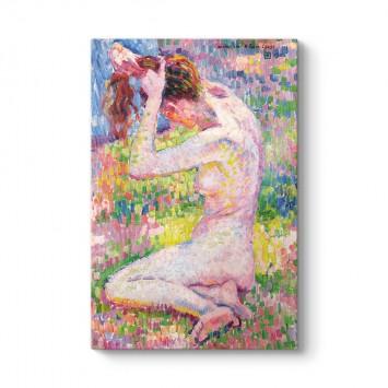 Theo van Rysselberghe - Seated Nude Tablosu