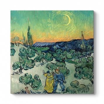 Vincent Van Gogh - Alacakaranlıkta Yürüyüş Tablosu