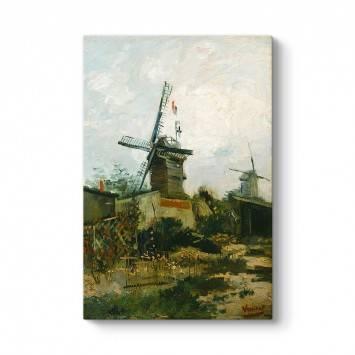 Vincent  Van Gogh - Montmartre'de Yel Değirmenleri Tablosu