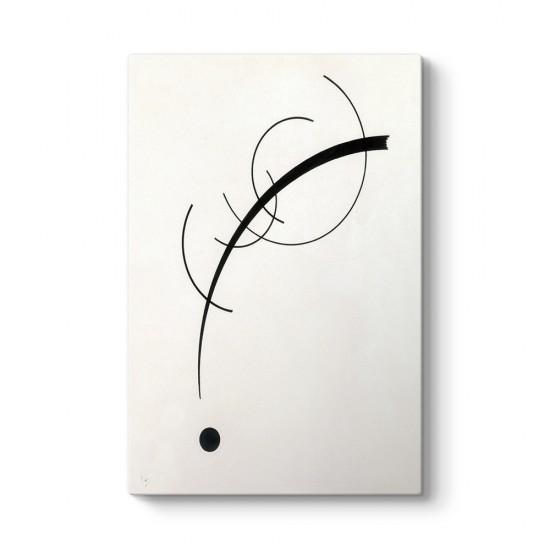 Wassily Kandinsky - Geometrik Eğrilerin Eşlik Eden Sesi Tablosu