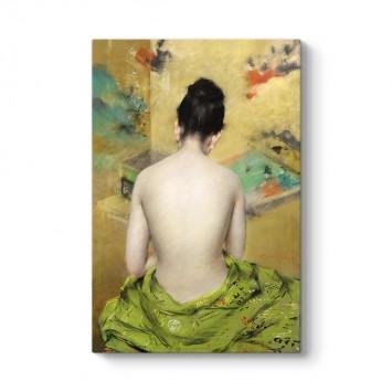 William Merritt Chase - Çıplak Kadın Tablosu