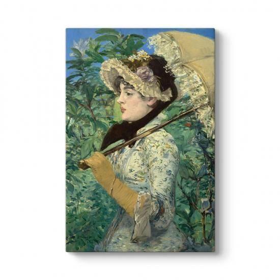 Edouard Manet - Jeanne İlkbahar Kanvas Tablo