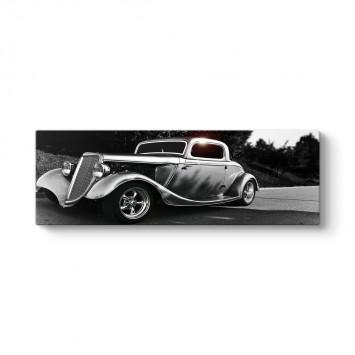 Klasik Amerikan Arabası Panorama Tablo
