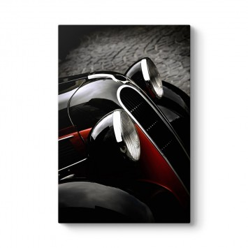 Siyah Beyaz Klasik Araç Tablosu
