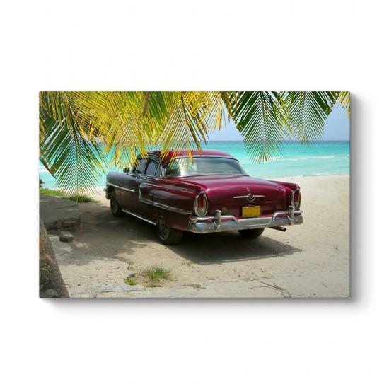 Küba Sahili ve Araba Tablosu