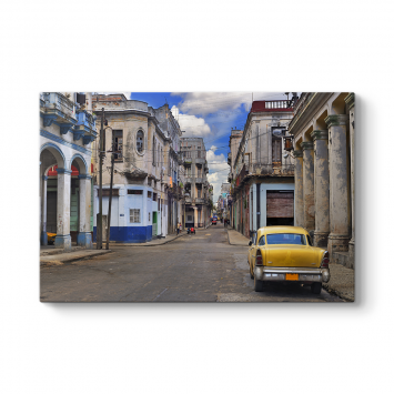 Eski Sokak ve Araba Tablosu