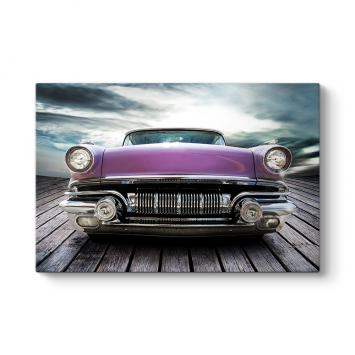 Nostaljik Eski Amerikan Arabası Tablosu