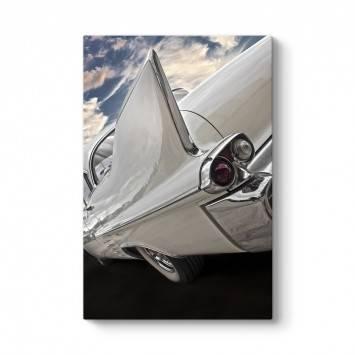 Beyaz Kanatlı Araba Tablosu