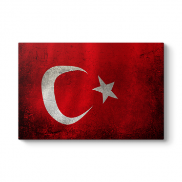 Eskitme Türk Bayrağı Tablosu