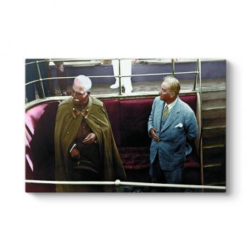 Atatürk ve İran Şahı Tablosu
