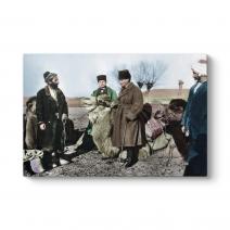 Atatürk ve Pehlivan Deve Tablosu