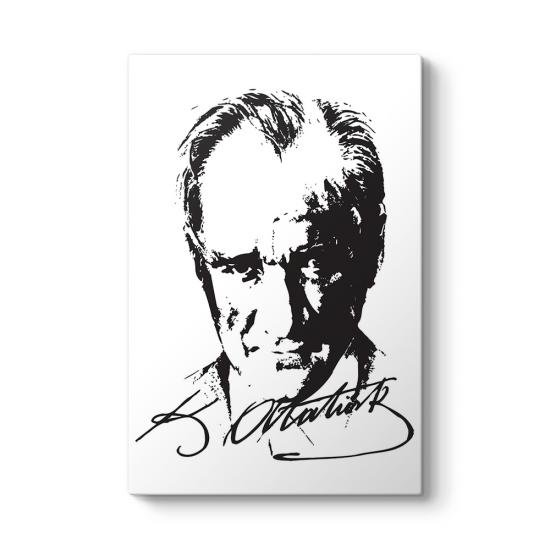 Atatürk Siluet ve İmza Tablosu