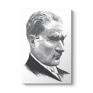 Atatürk Siyah Beyaz Tablosu