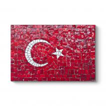 Dekoratif Türk Bayrağı Tablosu