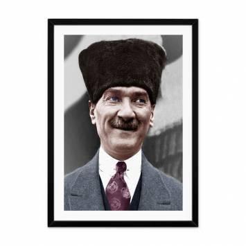 Atatürk Gülerken Çerçeveli Tablo