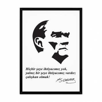 Atatürk Sözlü Çerçeveli Tablo