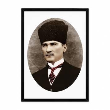 Çerçeveli Oval Atatürk Tablosu