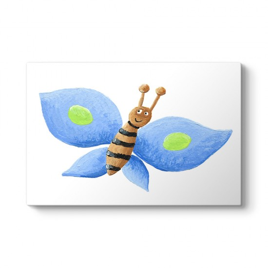 Şirin Mavi Kelebek Tablosu