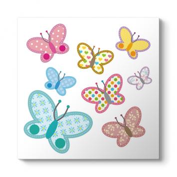 Sevimli Kelebekler Tablosu